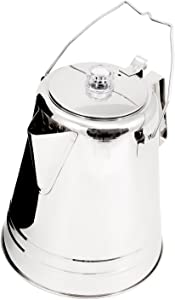 GSI Outdoors Glacier Stainless Steel 14 Cup Percolator Ultra-Rugged for Brewing Coffee While Camping with Groups