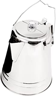 GSI Outdoors Glacier Stainless Coffee Percolator, Campfire, 36-Cup