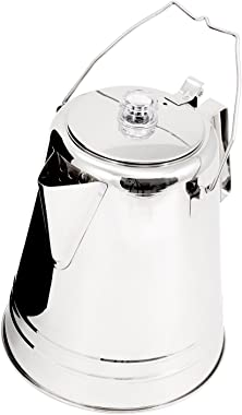GSI Outdoors Glacier Stainless Steel Percolator Coffee Pot | Ultra-Rugged for Brewing Coffee Over Stove and Fire | Ideal for