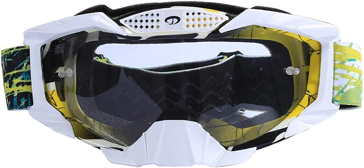 XIAMEND Motorcyclist Equipped with Goggles Ski Goggles SandProof Goggles Outdoor Riding Glasses for Women Men (color   L)