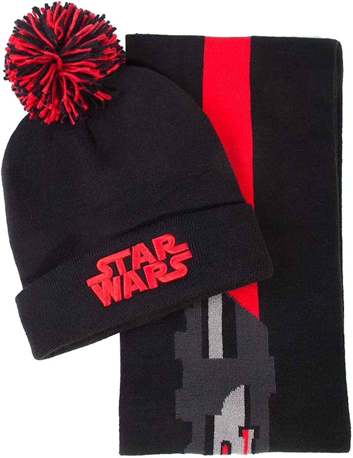 STAR WARS Beanie Scarf Gift Set Purchase Light Sabre Vader Popularity Official Darth
