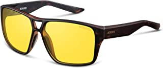 ACBLUCE Night Driving Glasses for Men and Women,Polarized HD Night Vision Glasses-Anti Glare Yellow Lens