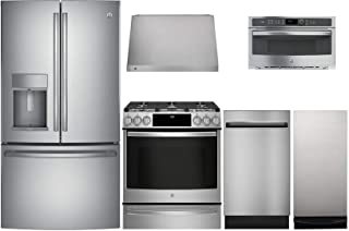 GE Profile 6 Pcs Kitchen Package with PFE28KSKSS 36