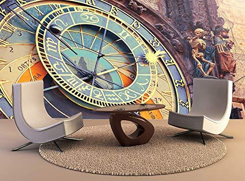 YBHNB Fototapete Astronomische Uhr Prag Wandkunst Dekor Fototapete Poster Hochwertiger Druck-280X200Cm
