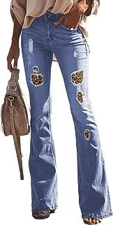 Womens Classic Flare Bell Bottom Denim Jeans Pants