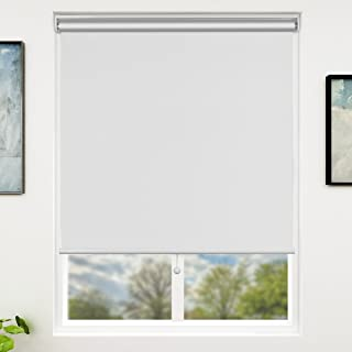 SUNFREE White Window Blinds Thermal Blackout Cordless Spring Window Shades 31'' x 72''