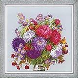 Riolis 1773 - Ramo de ramo de flores con astas (algodón, 4040 cm), multicolor