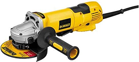 DeWalt 1500W 115/125mm Angle Grinder with E-clutch, Power off, Power Reset features with overload protection, Yellow/Blac...