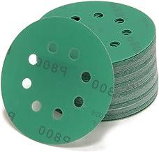Woltersberger® 50 stuks excentrische slijpschijven Ø 125 mm | korrel P240 | 8 gaten in groen | voor optimaal slijpen, veel...