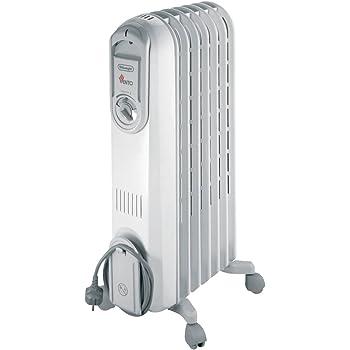 Delonghi Vento V550715 Radiador De Aceite, 1500 W, 3 Velocidades, Acero Inoxidable, Blanco: Amazon.es: Hogar