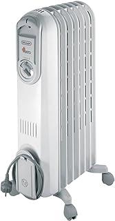 Delonghi Vento V550715 Radiador De Aceite, 1500 W, 3 Velocidades, Acero Inoxidable, Blanco