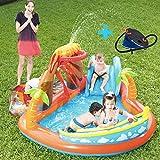 FLYTYSD Centro De Juegos De Agua con La Diapositiva, Agua Inflable Kids Play Center/Piscina para Niños Piscina Al Aire Libre para Los Bebés, Niños Pequeños