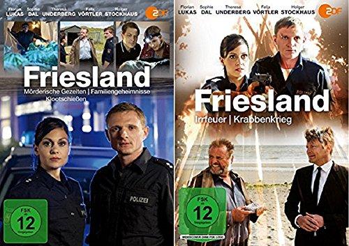 Friesland: Mörderische Gezeiten, Familiengeheimnisse, Klootschießen, Irrfeuer, Krabbenkrieg [DVD Set]