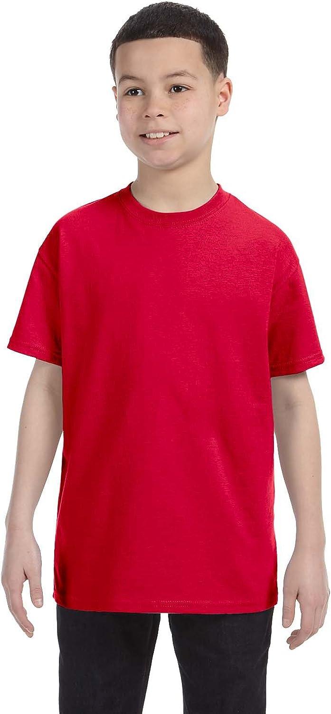 By Gildan Youth 53 Oz T-Shirt - Red - L - (Style # G500B - Original Label)