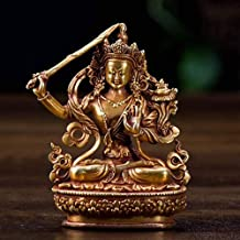 PPCP Nepalese Pure Copper Buddha Statue Miniature Sitting Zen Buddha Statue Indoor Home Decoration Outdoor Garden Decorati...