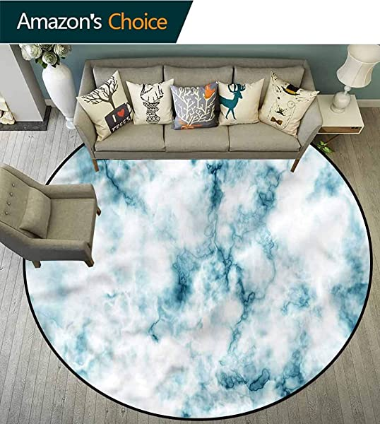 RUGSMAT Nature Round Area Rugs Living Room Grunge Marble Effect Non Slip Soft Floor Mat Home Decor Diameter 24