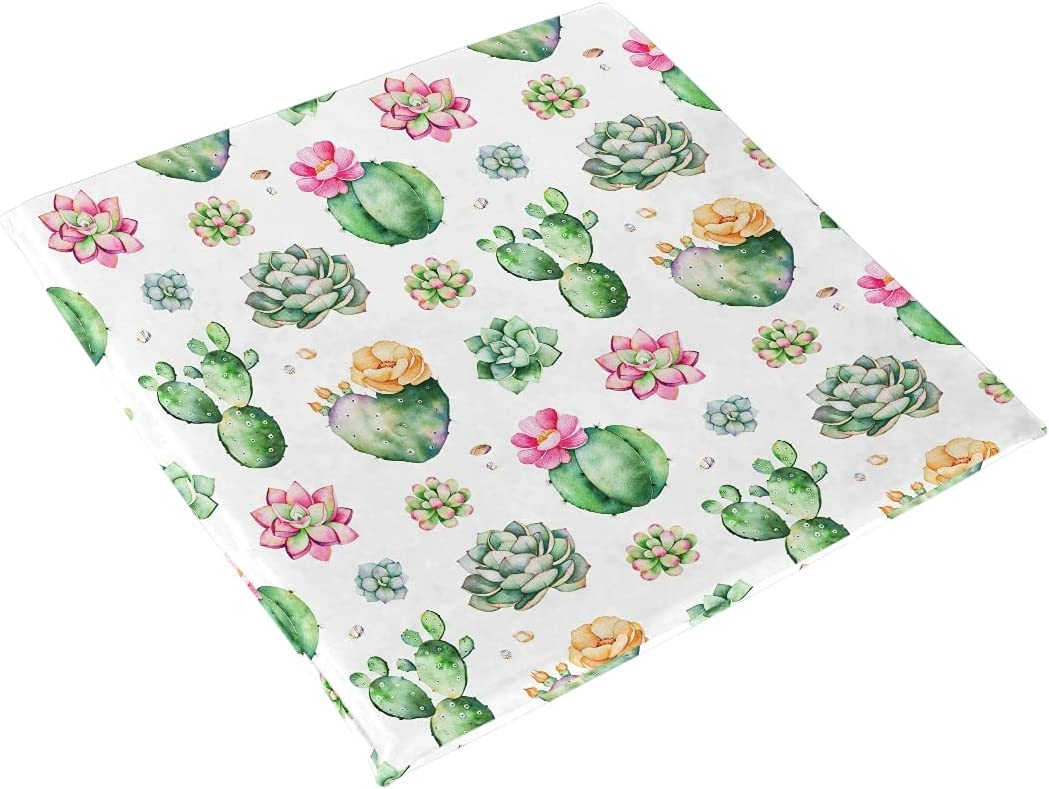 xigua Seat Cushion 70% OFF Outlet 70% OFF Outlet Colorful Succulents Chair Removabl Soft Pads