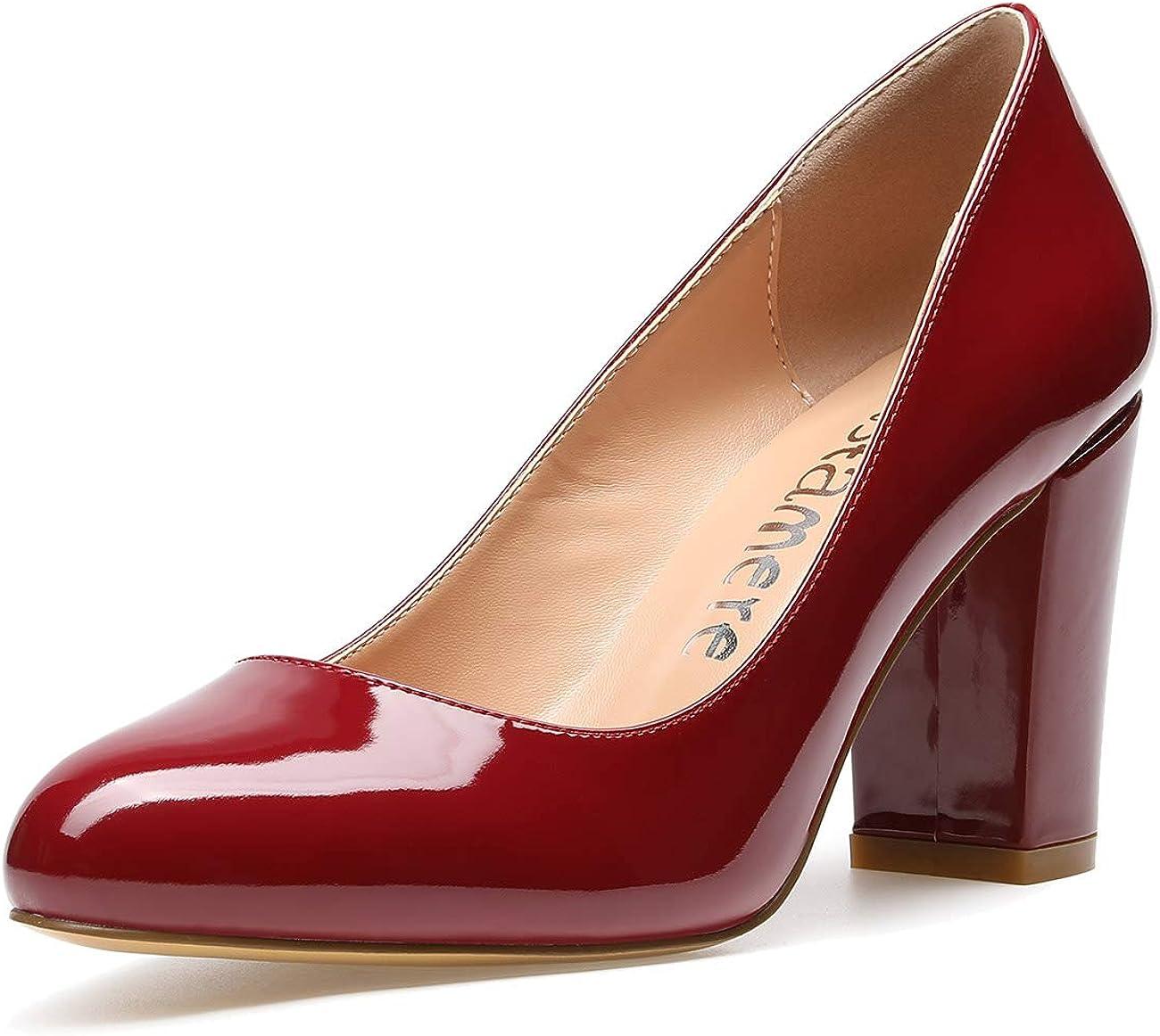 Castamere Women's High Heels Round Block Direct sale Mesa Mall of manufacturer Pumps Toe Slip-On Heel