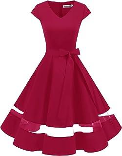 Gardenwed Donna 50s 60s Linea Rockabilly Abito Vestito da Sera Vintage Swing Party Vestito