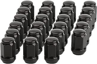 dynofit 1/2-20 Black Wheel Lug Nuts, 23pcs 1/2x20 Hex 60 Degree Steel Conical Lugnuts for Aftermarket Tuner Durango Journey Viper XJ KJ KK CJ Commander XK ZJ WJ WK Liberty TJ JK Explorer