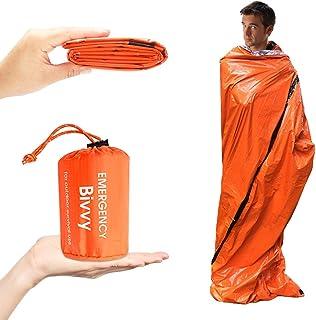 エマージェンシーウ ヒートシート非常用寝袋 90%の体熱を保つ (防水・防風・防寒・保温・遮熱シート) 1人用