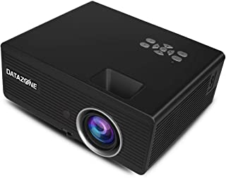 Multi media Mini Projector, LED Portable Pocket Projectors for Home Theater Video 800x480 , with Audio AV HDMI SD Card Slo...