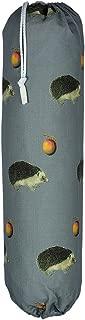 Plastic Carrier Grocery Bag Holder Dispenser - Large, Sage, Vintage Hedeghog in The Apple Orchard,