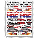 Stickers Decals Compatible Honda CBR RR Woody Set 24X32 CM