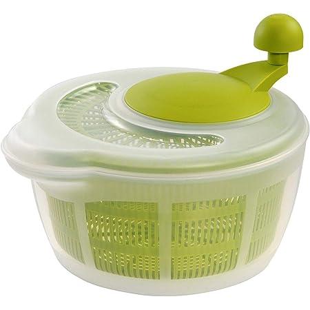 Westmark Essoreuse à Salade, Capacité : 5 litres, ø 26 cm, Plastique, sans BPA, Fortuna, Couleur : Transparent/Vert, 2432224A