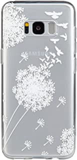 Galaxy S8 Case,3Cworld Ultra Thin Clear Art Pattern Crystal Gel TPU Rubber Flexible Slim Skin Soft Case for Samsung Galaxy S8 (Dandelion/Bird Flying-White)