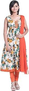 Cynthia's Fashion Women's Cotton Printed Flared Salwar Suit Set