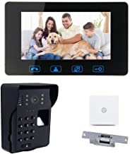 """7""""LCD Fingerprint + Password Access Control Video Door Phone Doorbell Intercom System Kit with Night Vision + Wireless Remote Switch"""