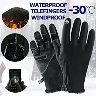 ⭐ Futurelove ⭐ Winter Gloves for Men Women 3M Thinsulate Waterproof Touch Screen Windproof Thermal Ski Cold Weather Gloves, Motorcycle Snowboard Snow Warm Touchscreen Ski Gloves Mitten