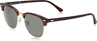 Ray-Ban womens Rb3016 Clubmaster Square Sunglasses Square Sunglasses