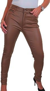ICE Jeans di sguardo in pelle di faux stretch a vita alta 42-52