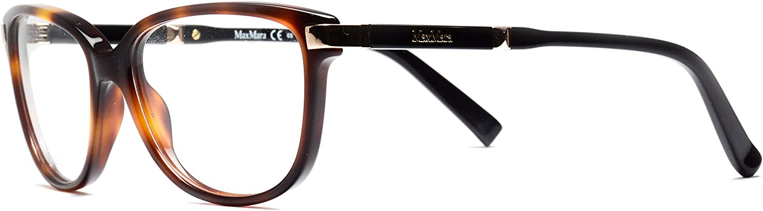 Max Mara  MM 1253, Cat Eye, acetate, women, HAVANA BLACK(BHZ), 54 15 140