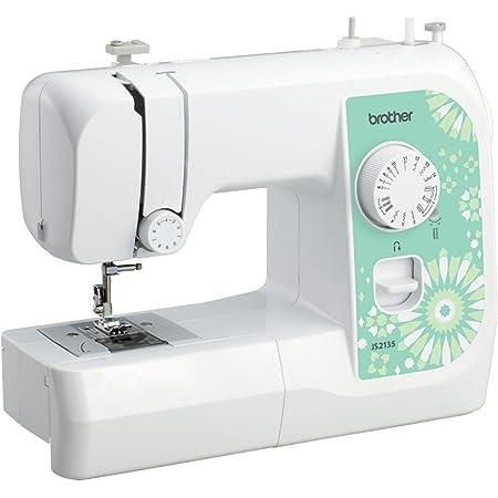 Brother JS2135 - Máquina de coser (Verde, Blanco, Bordado, Overlock, Costura, 4 Pasos, 4 mm, 750 RPM, 5 mm)