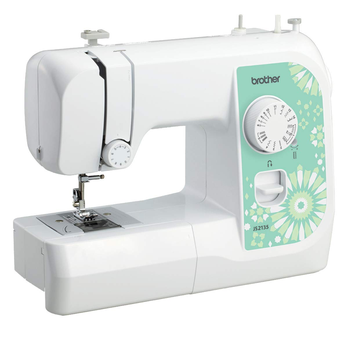 Brother JS2135 - Máquina de coser (Verde, Blanco, Bordado ...