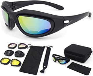 Zabarsii Polarized Sunglasses, Bulletproof CS, Tactical Goggles, Field Motorcycle,Windproof Mirror,Fit for Male or Female