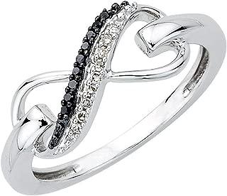 black and chocolate diamond rings