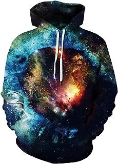 HelloTem Unisex Hoodie 3D Printed Sweatshirt with Big Pockets Hooded Pullover