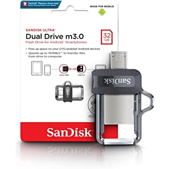 SanDisk 32GB Ultra Dual Drive M3.0 for Android Devices and Computers - MicroUSB, USB 3.0 - SDDD3-032G-G46