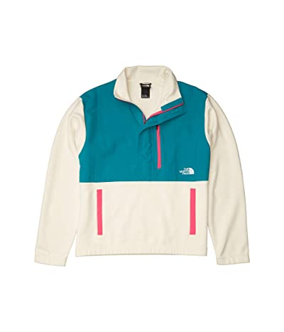 The North Face Graphic Collection Pullover Jacket (Vintage White/Fanfare Green/Mr. Pink) Men