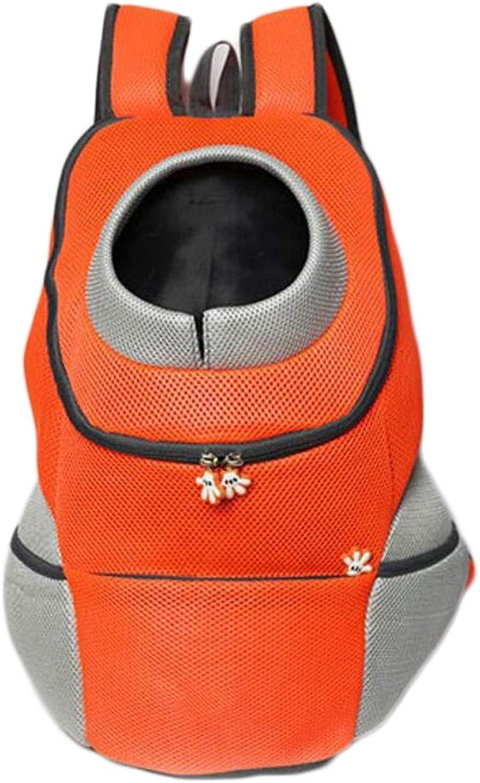Pet Carrier Front Pack Dog Cat Travel Bag Backpack Suitable for Pets up to 7.5kg (color   orange, Size   OneSize)