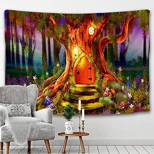 Tapiz del mundo de la fantasía del dragón que cuelga de la pared alfombras de la pared tapiz de la decoración del dormitorio 150x100cm/59*39inch
