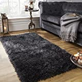 alfombra negra pelo largo