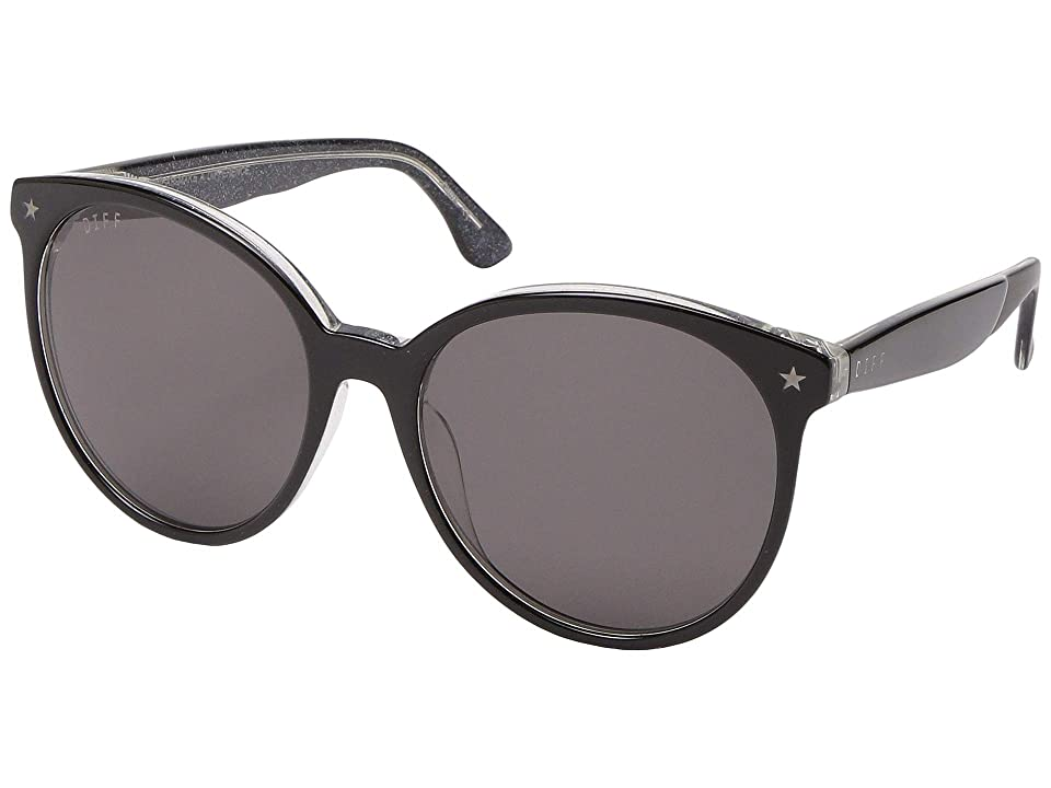 DIFF Eyewear Cosmo (Black/Grey 6) Fashion Sunglasses