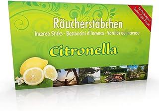 Luxflair 10 Packungen Citronella Räucherstäbchen, Brenndauer ca. 60h (gesamt). XL..