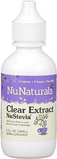NuNaturals Pure Liquid Clear Stevia, 2 Ounces ( pl1ed Pack of 6)
