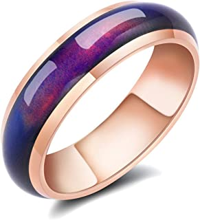 Mood Rings for Women Color Changing Mood Rose Gold Plated Rings Gifts for Women & Grils & Friends